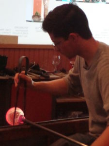 Glass blowing at Sandwich Glass Museum