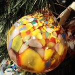 Multicolor glass Christmas ornament