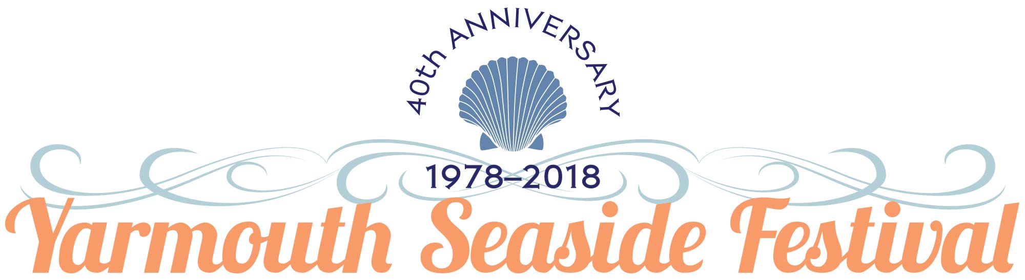 Logo for the 40th Anniversary Yarmouth Seaside Festival