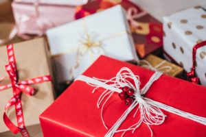 Brightly-wrapped-Christmas-gifts