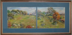 "painting by Alice Lucy Ware Armstrong ""Meadow Spring Farm"""